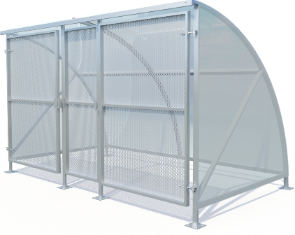Gated lockable Shelter
