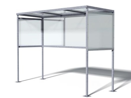 Large Slimline Smoking Shelter