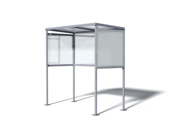 Medium Slimline Smoking Shelter
