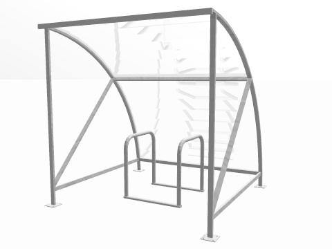 4 BIKE RACK AND CYCLE SHELTER PACKAGE DEAL