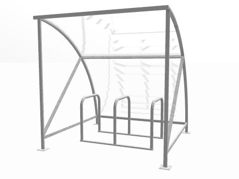 6 BIKE RACK CYCLE SHELTER PACKAGE DEAL
