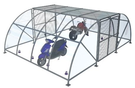 Motor cycle shelter