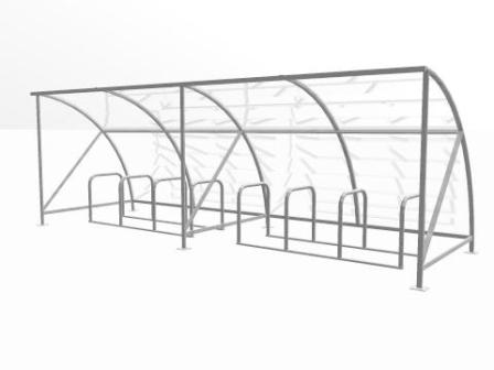 16 bike cycle shelter extension