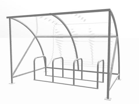 8 BIKE AND RACK CYCLE SHELTER PACKAGE